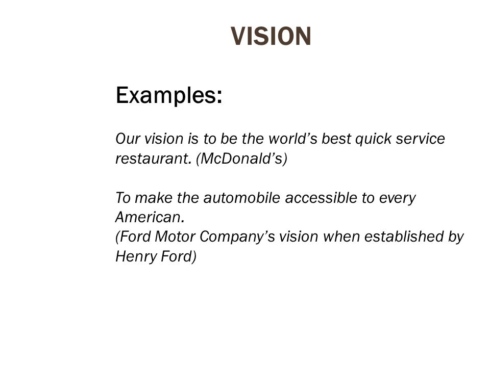 Chapter 1 strategic management and competitiveness ppt for Ford motor company vision