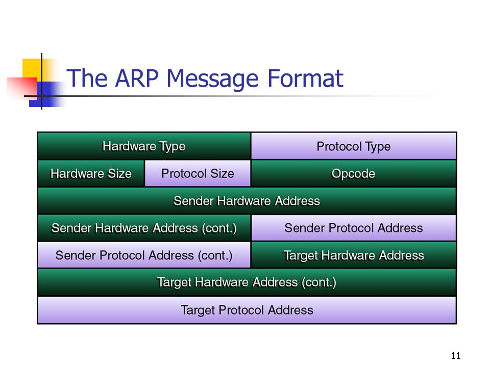 The ARP Message Format