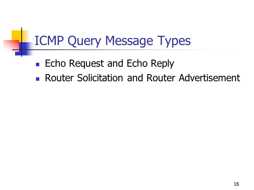 ICMP Query Message Types