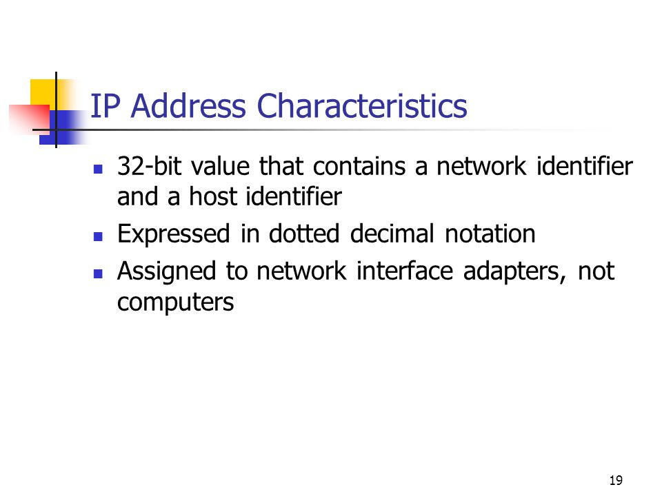 IP Address Characteristics