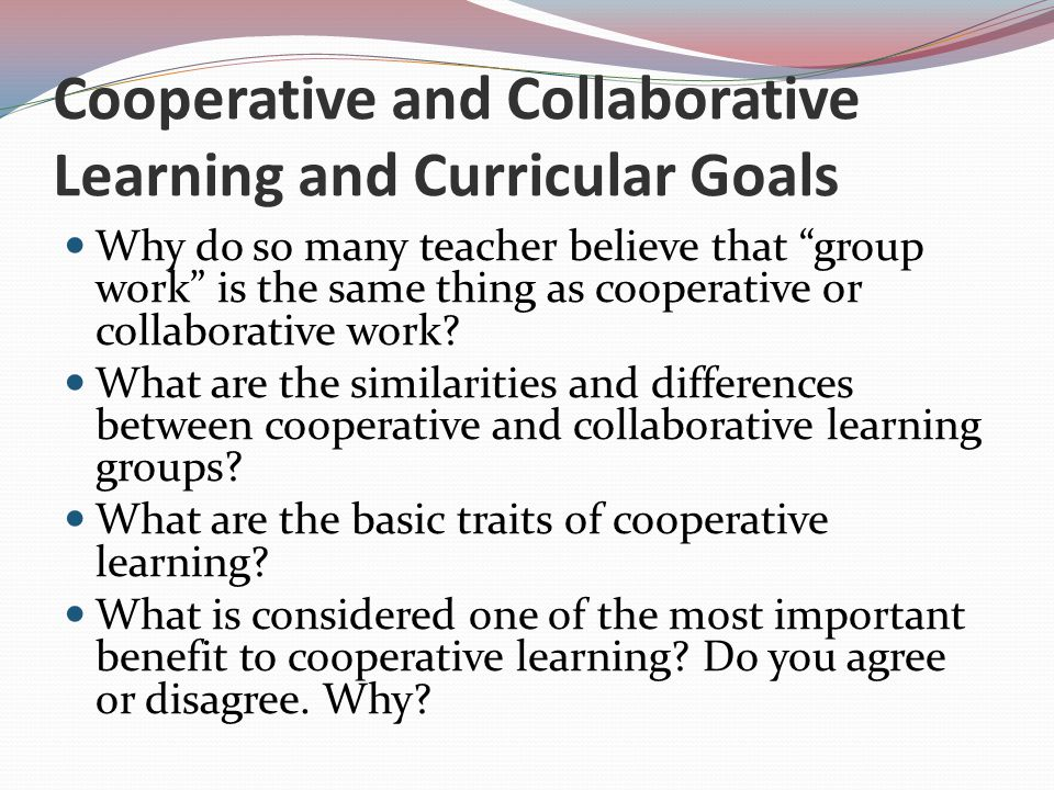 Collaborative Teaching Goals ~ Cooperative learning in social studies ppt video online