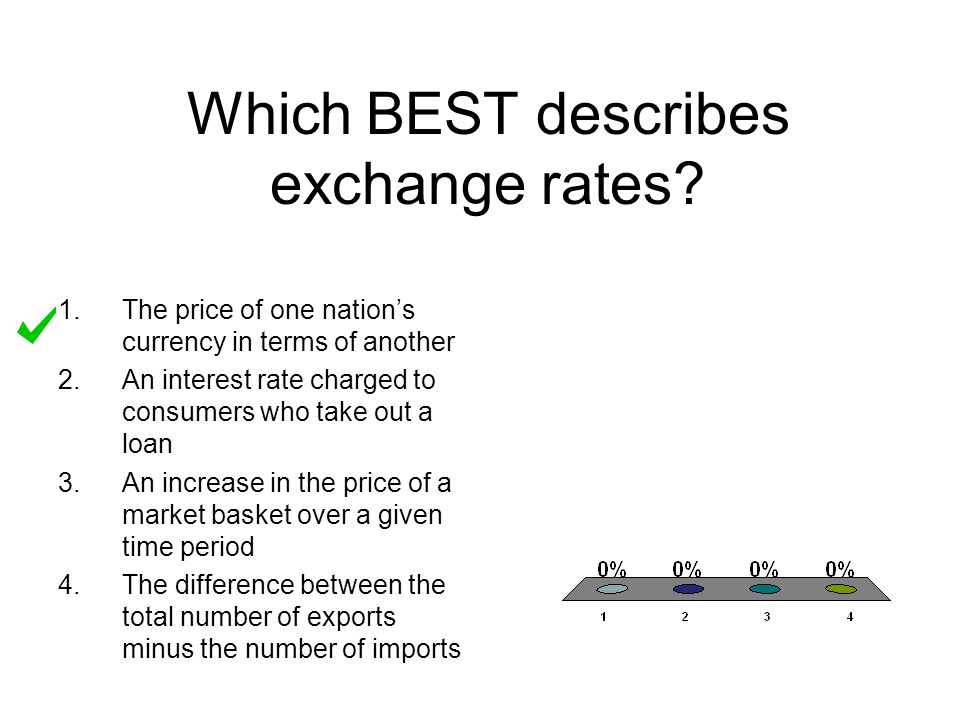 Which BEST describes exchange rates