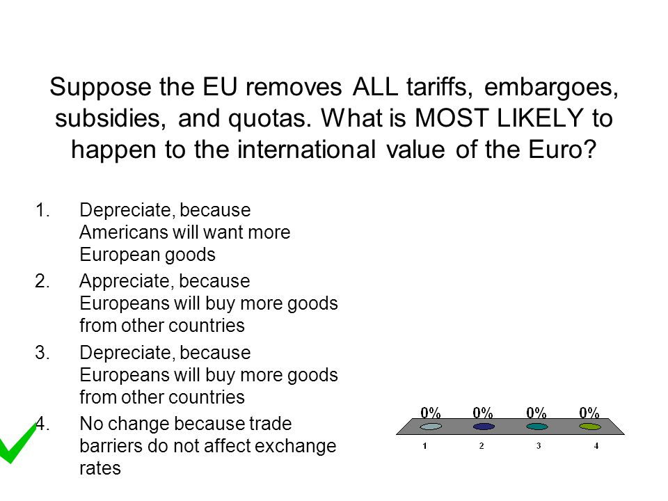 Suppose the EU removes ALL tariffs, embargoes, subsidies, and quotas