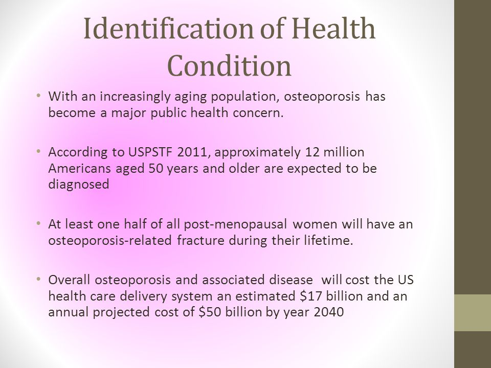 Identification of Health Condition