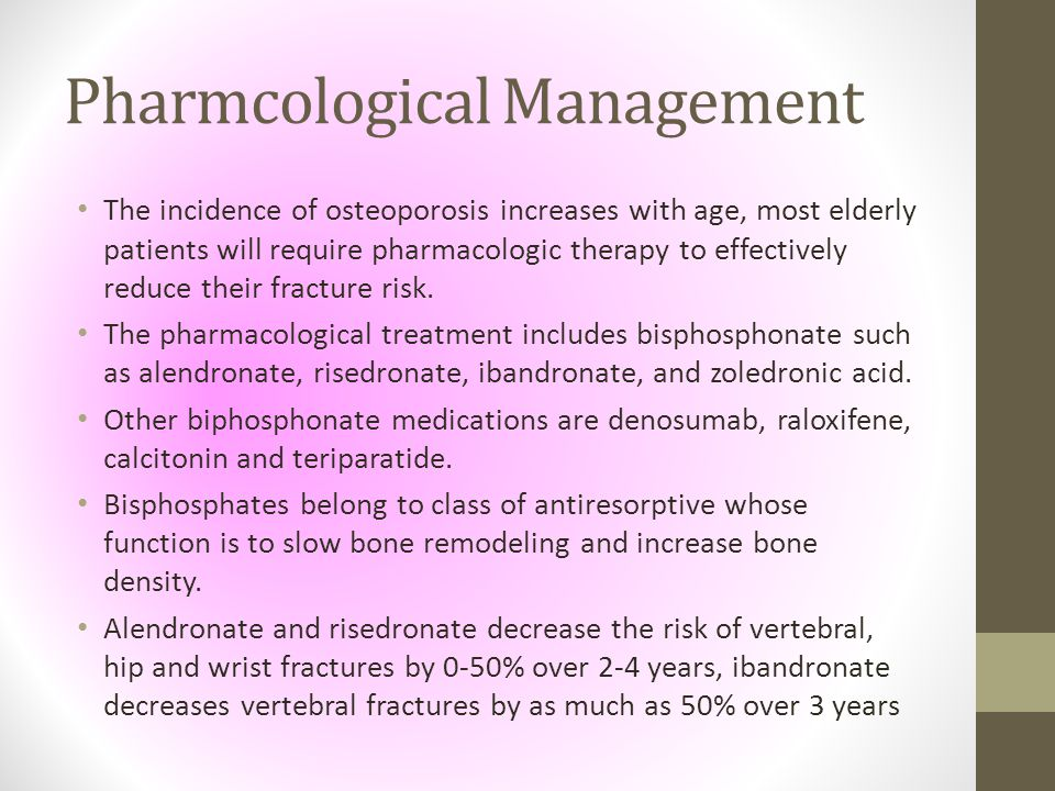 Pharmcological Management