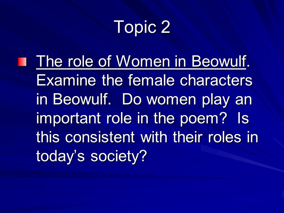 The role of women in Beowulf