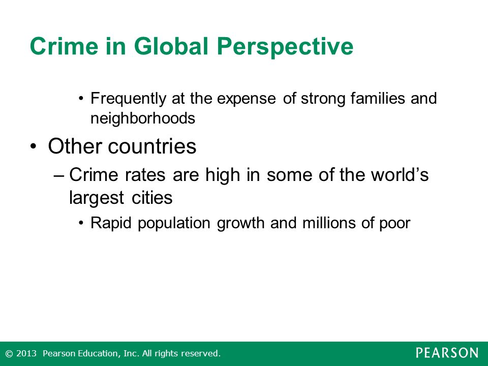 crime in perspective Custom social organized crime perspective essay social institution is an organization or group that has a specific task or goal and performs it by convincing people in the community to take part and help in achieving this aim.