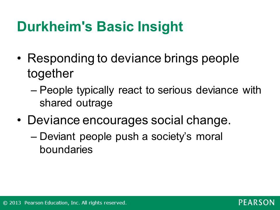 durkheim deviance This article revolves around Émile durkheim's (1858-1917) controversial proposal that society necessitates the presence of.