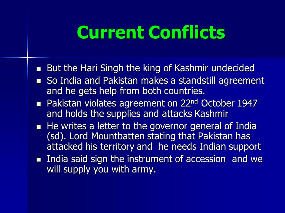 Kashmir by yash desai ppt video online download current conflicts but the hari singh the king of kashmir undecided platinumwayz
