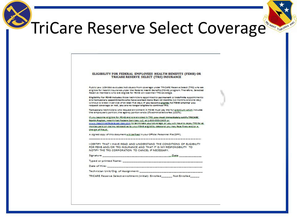 Welcome to your briefing as a wv national guard permanent federal tricare reserve select coverage yadclub Images