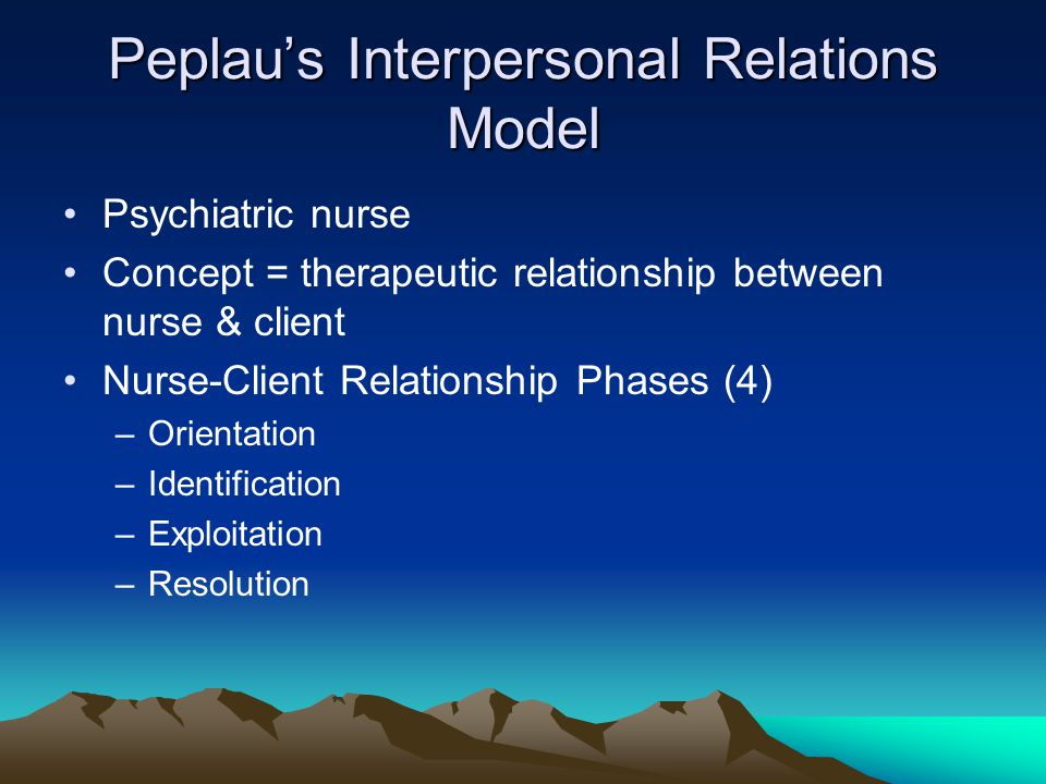 flaskas therapeutic relationship between nurse