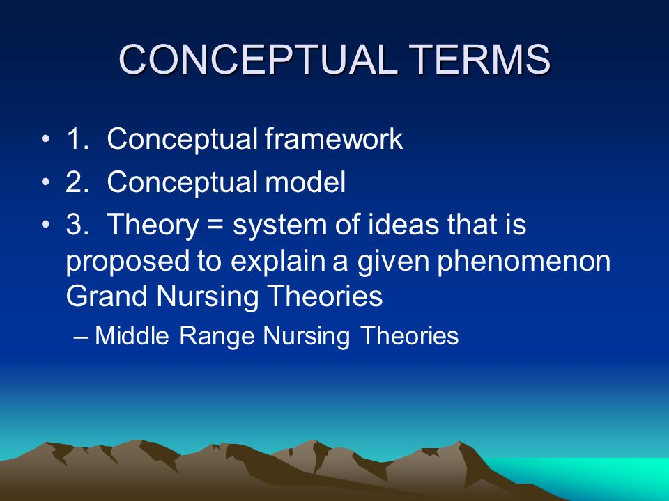 analysis of middle range nursing theory Analyze theories from nursing and relevant fields with respect to their  with this  in mind, we can imagine that middle-range nursing theories could more easily.