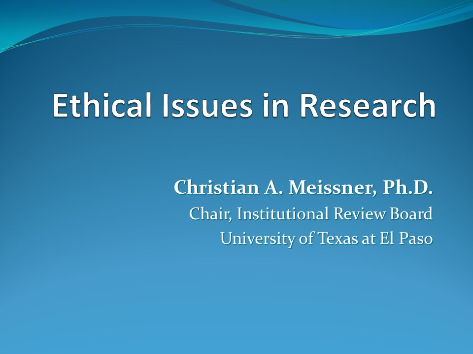 ethical concerns in research However, it is also useful to look at the way that researchers within the social sciences more generally have dealt with ethical research issues—for example, the social research association (sra), the british sociological association ( bsa), and the american psychological association in this chapter, the codes of these.