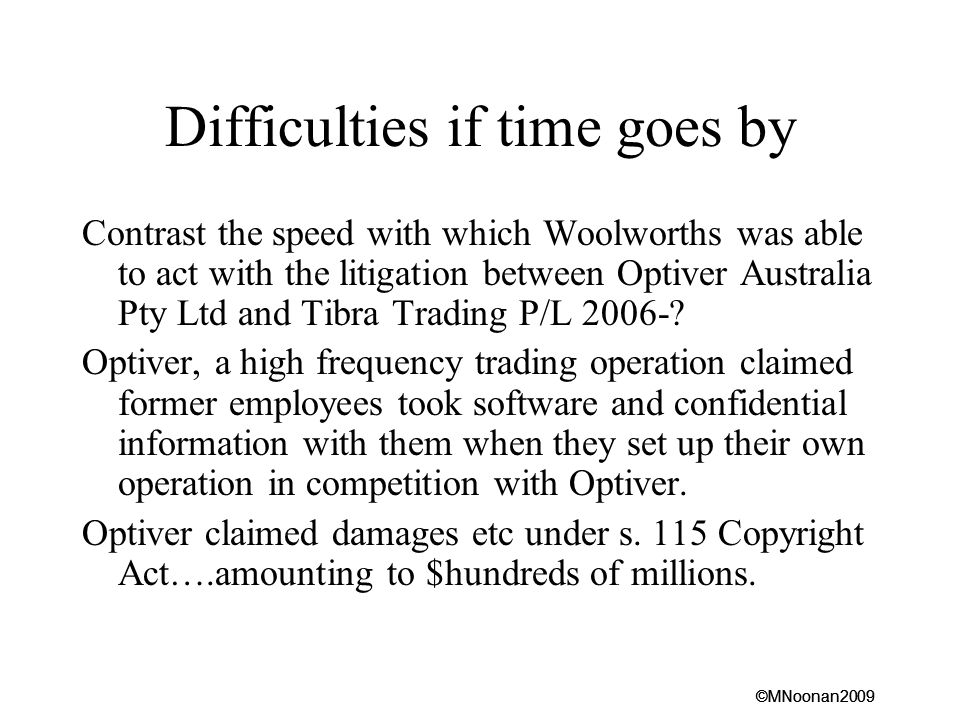 Difficulties if time goes by