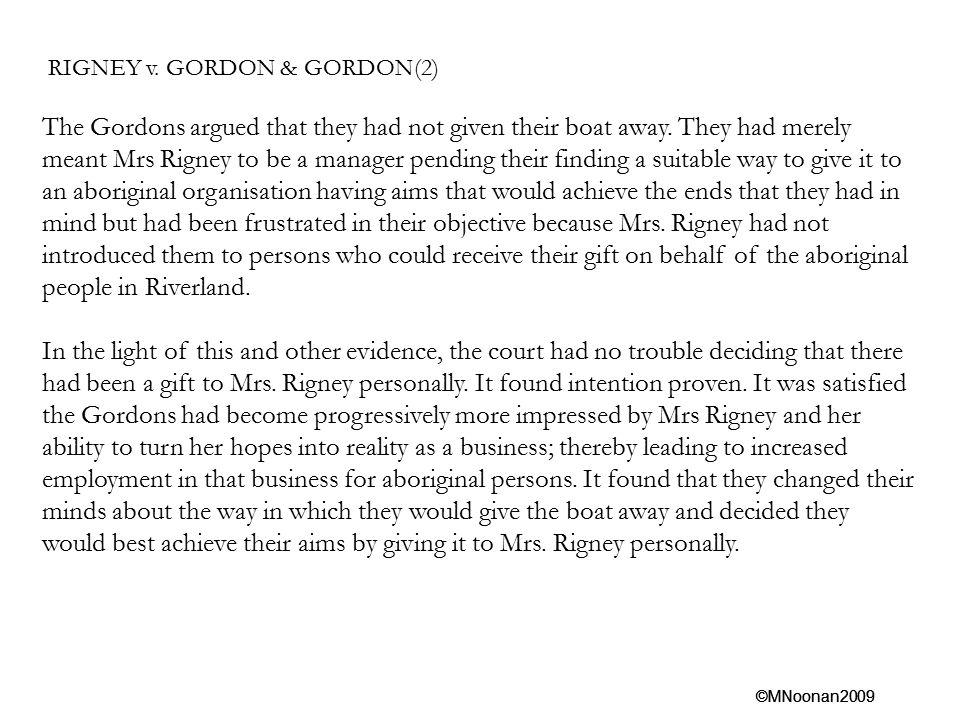 RIGNEY v. GORDON & GORDON(2)