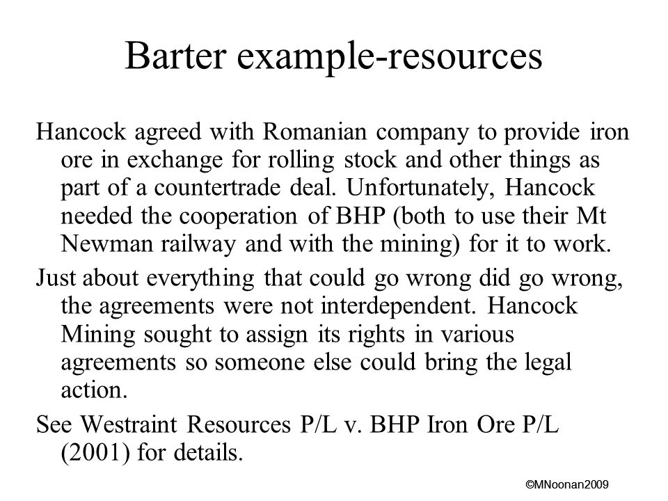 Barter example-resources