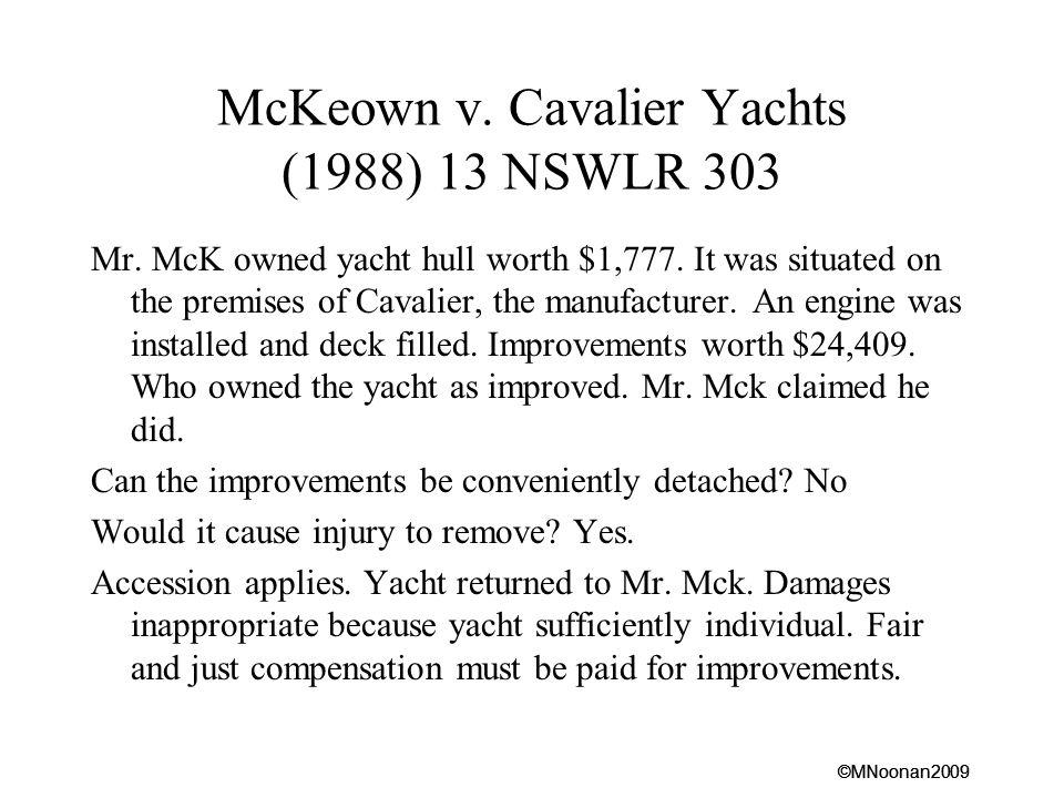 McKeown v. Cavalier Yachts (1988) 13 NSWLR 303