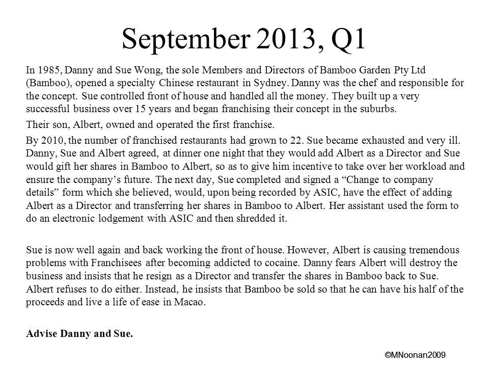 September 2013, Q1