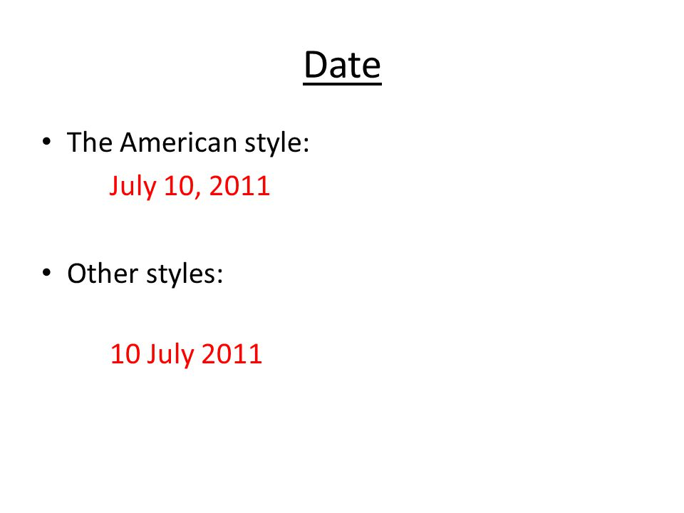 Was ist american style dating