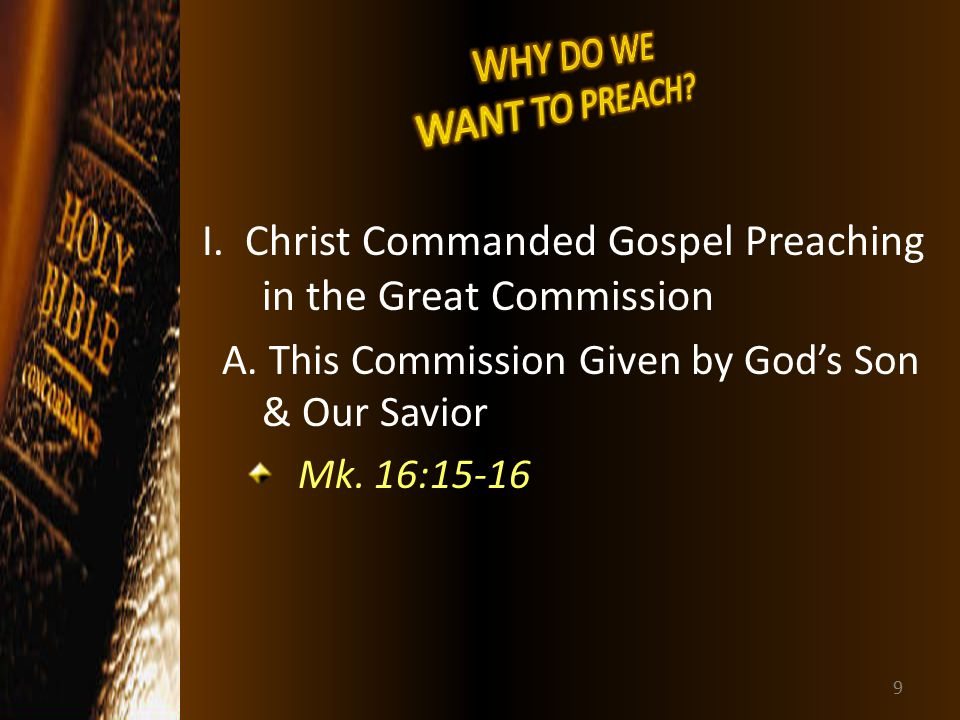 about christs great commission essay View and download disciples essays examples also beliefs/kingdom-god-heart-christs-message the great commission view full essay.