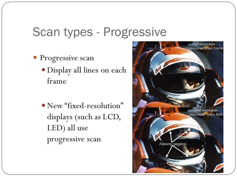 Scan types - Progressive