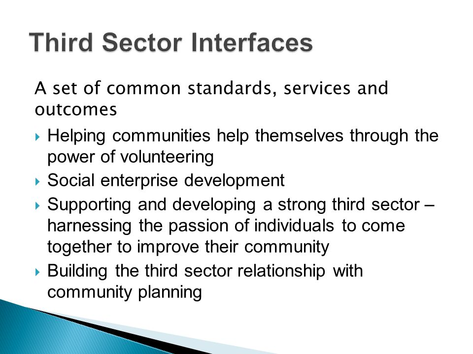 Third Sector Interfaces