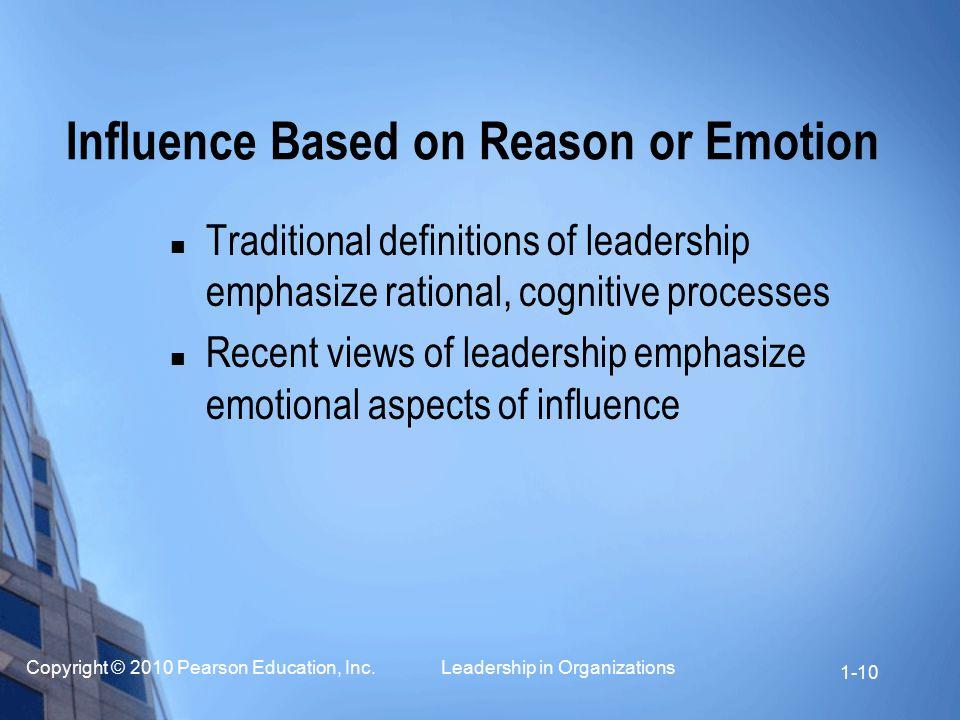 Influence Based on Reason or Emotion