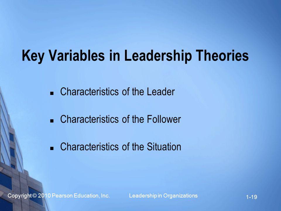 Key Variables in Leadership Theories