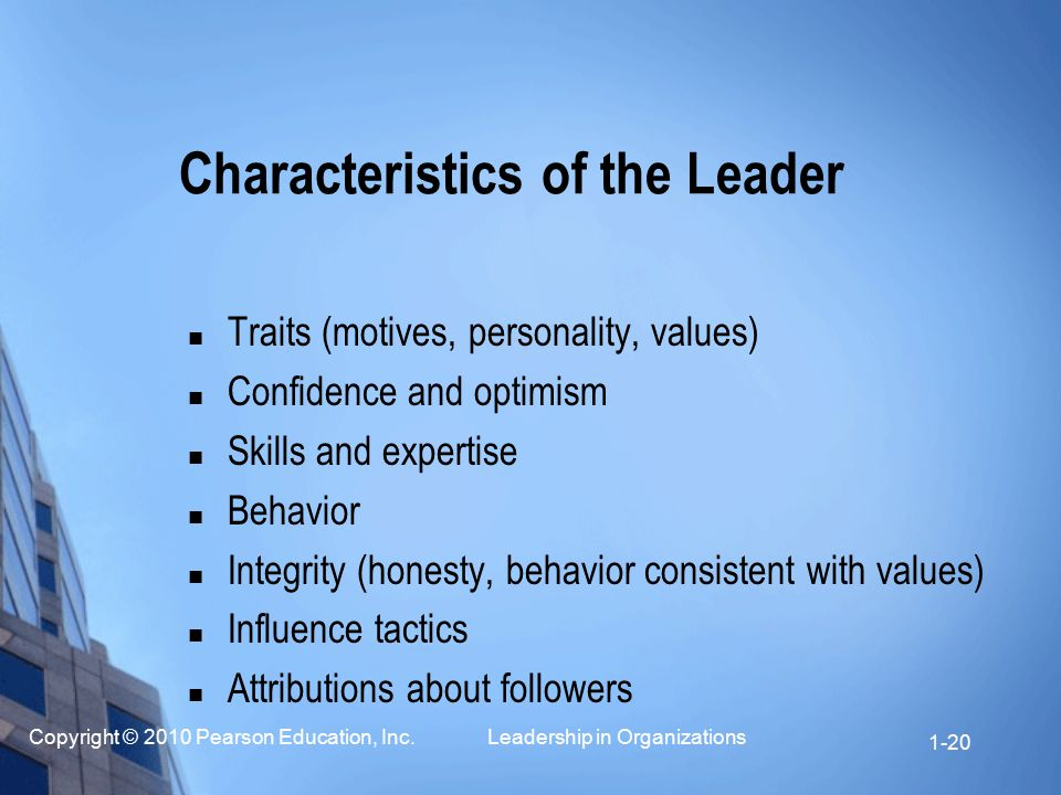 Characteristics of the Leader