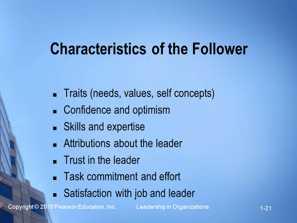 Characteristics of the Follower
