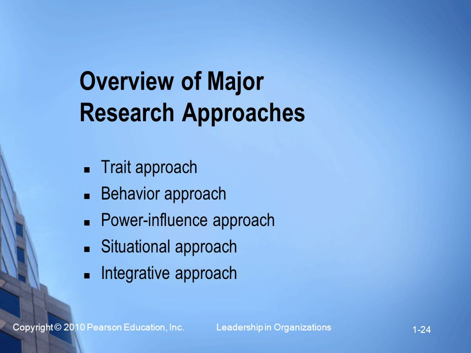 Overview of Major Research Approaches