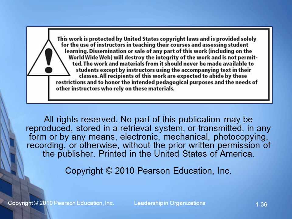 Copyright © 2010 Pearson Education, Inc.