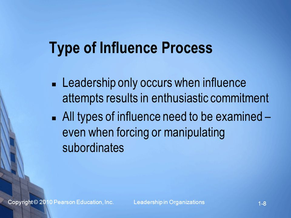 Type of Influence Process