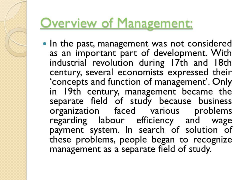 modern concept of management ppt