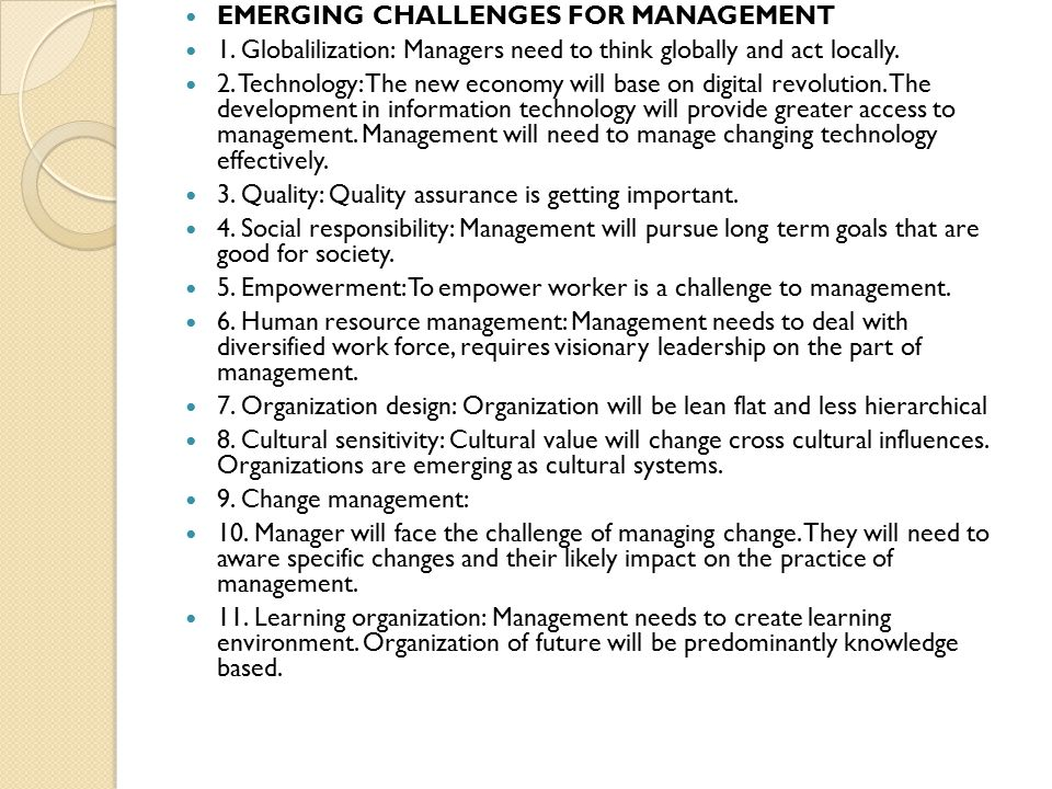 challenges faced by modern managers of organisations and their solutions Diversity in the workplace: benefits, challenges and solutions by josh make assessing and evaluating their diversity process an integral part of their management is fully-customizable and allows you to target the organizational topics and challenges facing your staff.