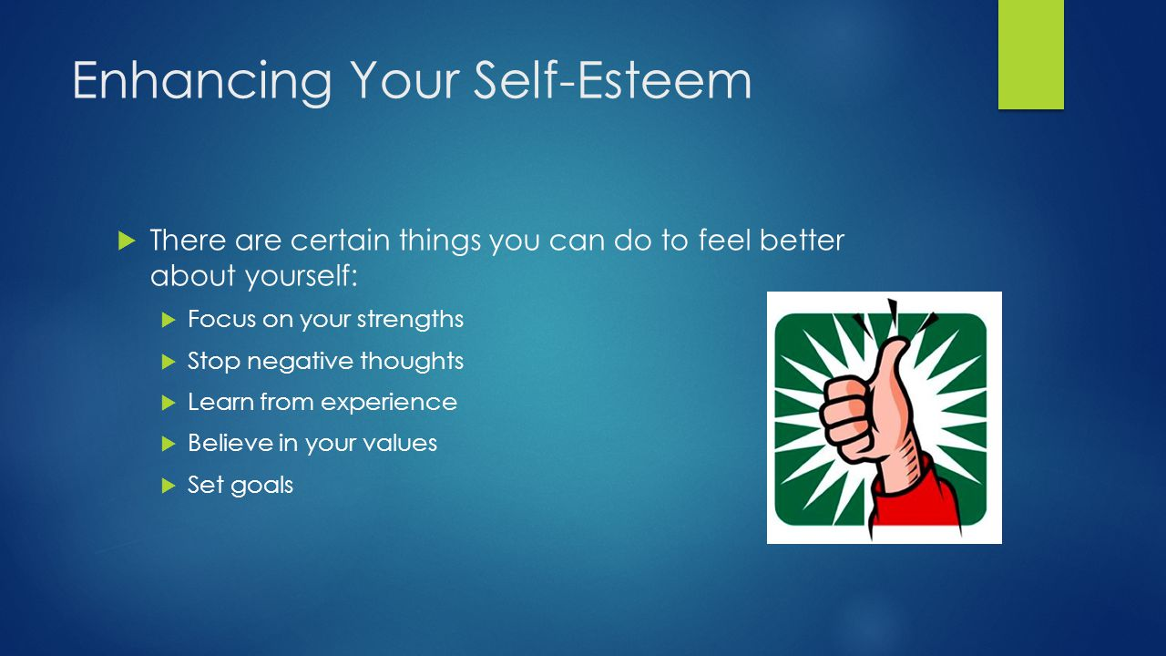Enhancing Your Self-Esteem