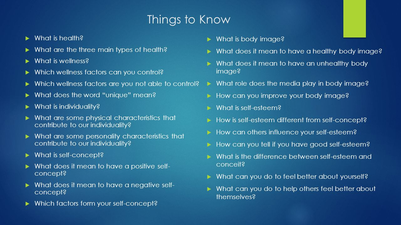 Things to Know What is health