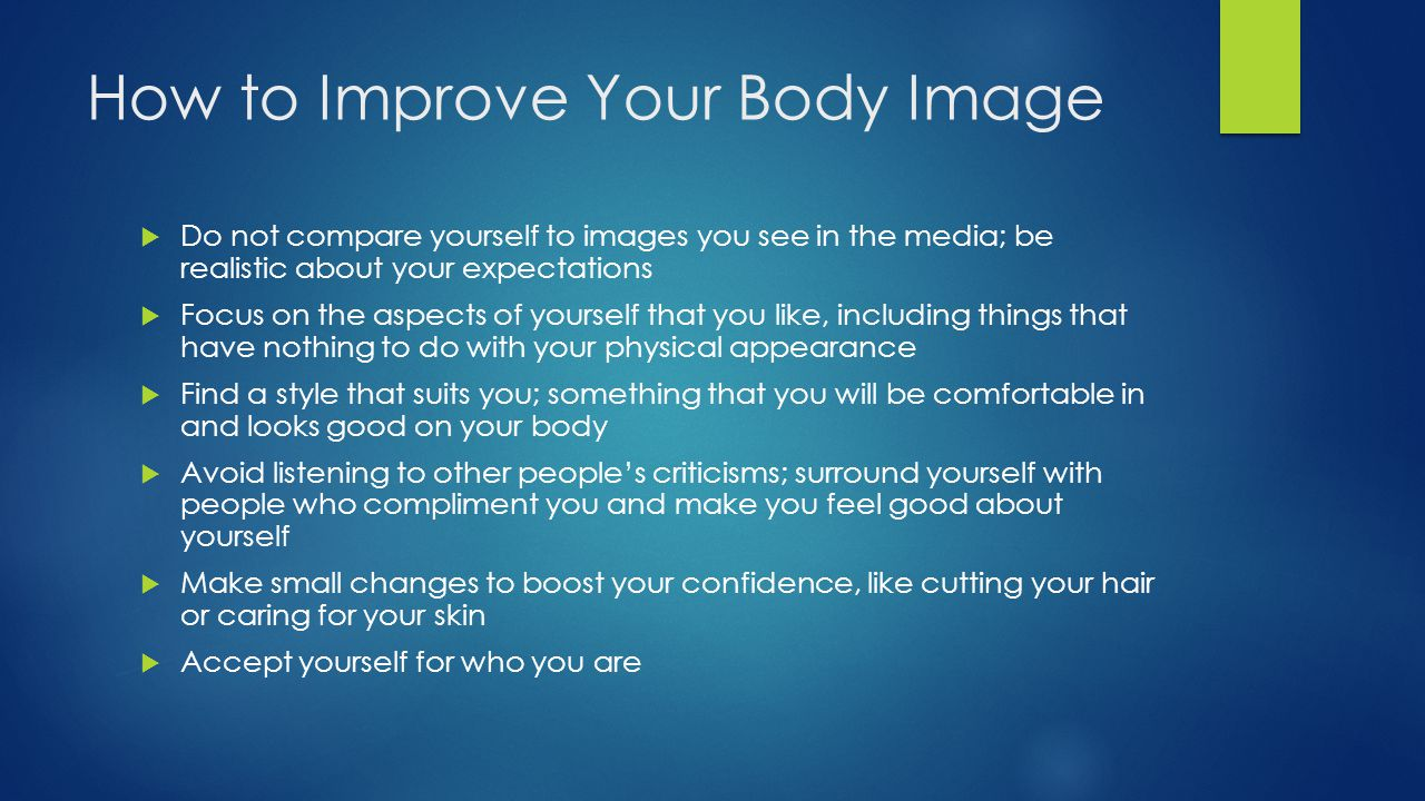 How to Improve Your Body Image