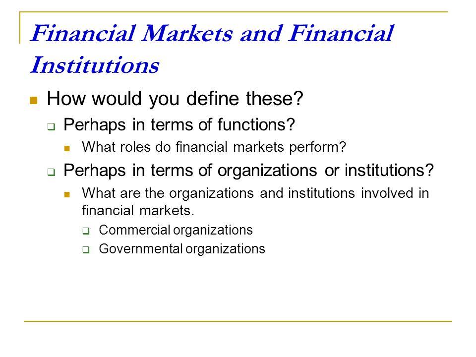 financial institutions in financial markets Financial markets and institutions del autor frederic s mishkin (isbn 9780321014658) comprar libro completo al mejor precio nuevo o.
