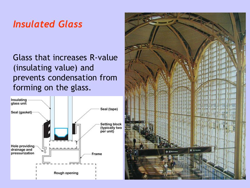 Glass glazing ppt video online download for Window r value