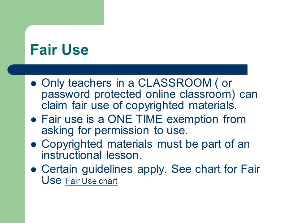 Fair Use Only Teachers In A CLASSROOM Or Password Protected Online Classroom Can Claim