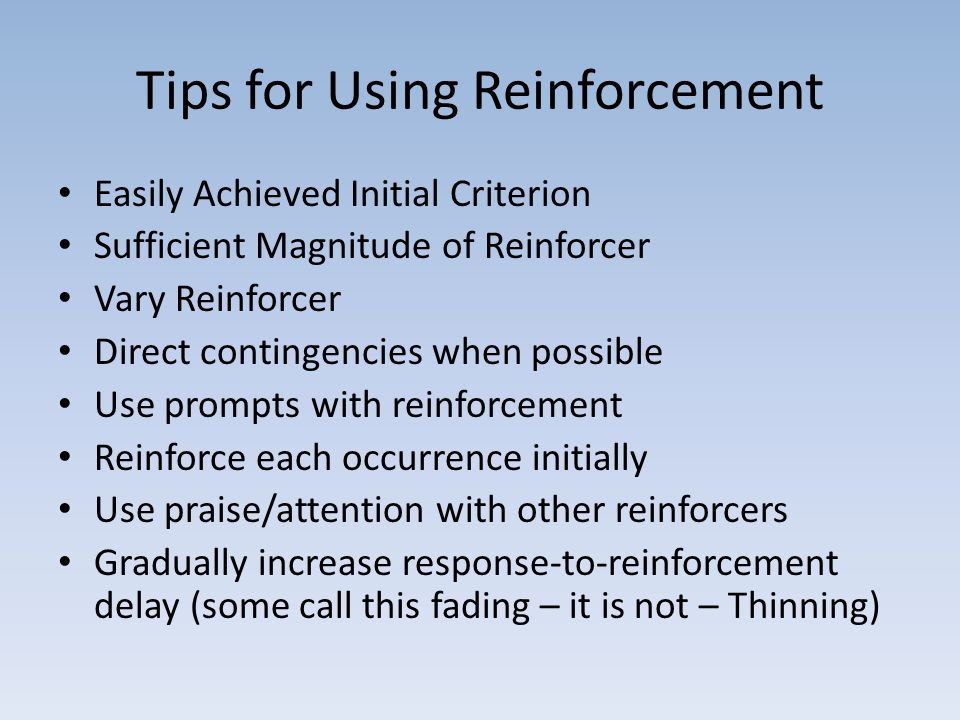 Tips for Using Reinforcement