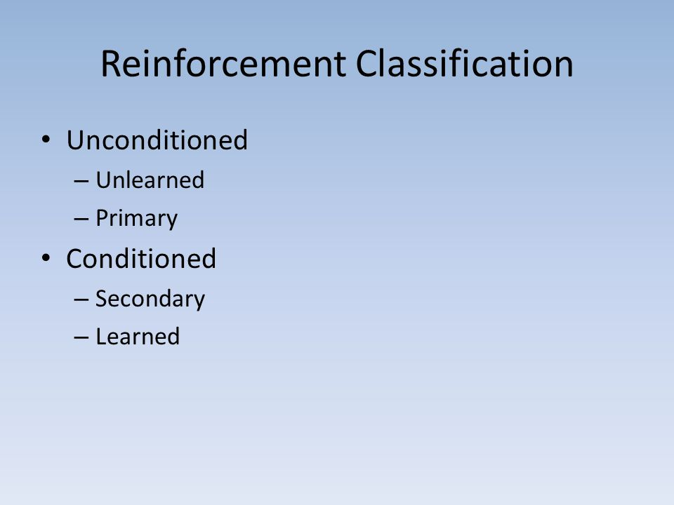 Reinforcement Classification