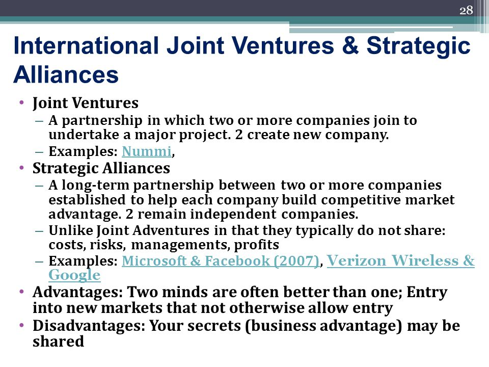 strategic alliances to gain global integration Strategic alliances a comparative analysis of successful  as a result of global competition and the  strategic alliance is created to gain new skills and.