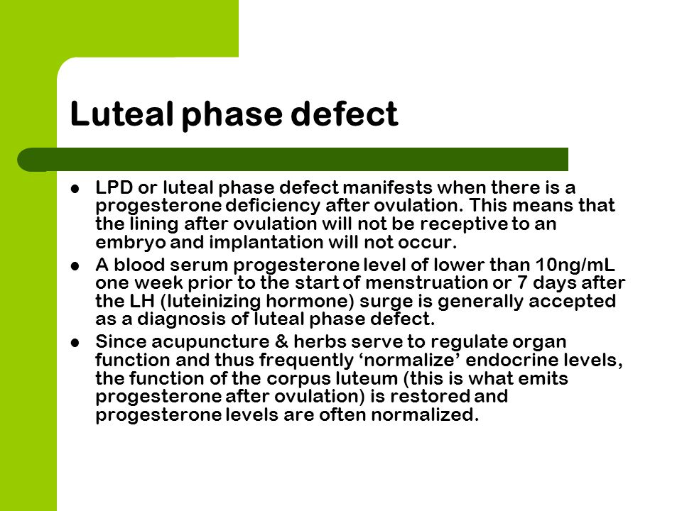 how to detect luteal phase defect