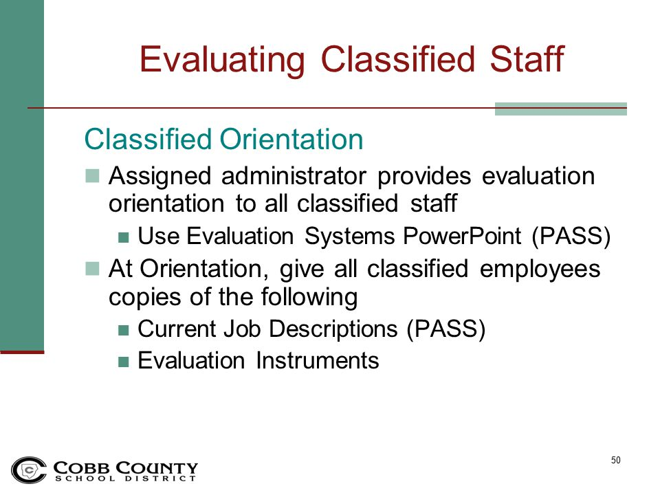 Ccsd Performance Evaluation Systems - Ppt Download