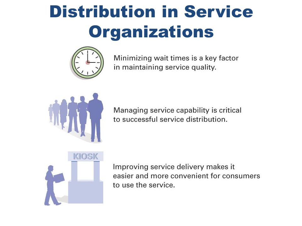 Distribution in Service Organizations
