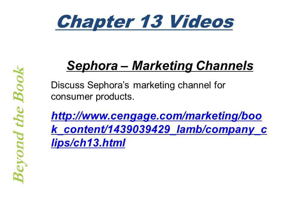 Sephora – Marketing Channels