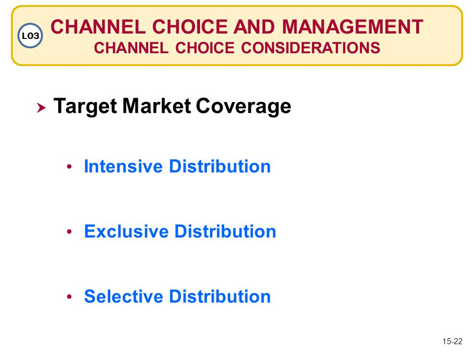 CHANNEL CHOICE AND MANAGEMENT CHANNEL CHOICE CONSIDERATIONS