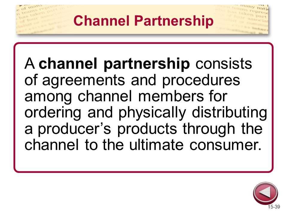 Channel Partnership